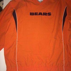 NFL Chicago Bears Windbreaker pullover Orange 2XL